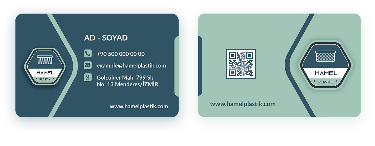 hamel plastik kartvizit tasarımı