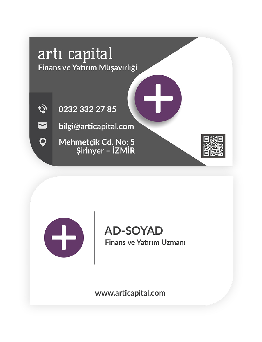 artı capital kartvizit tasarımı