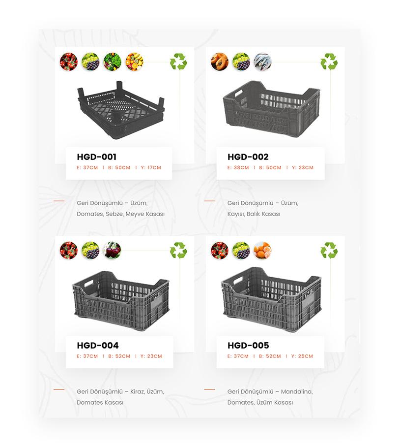 hamel plastik ürün sayfası tasarımları
