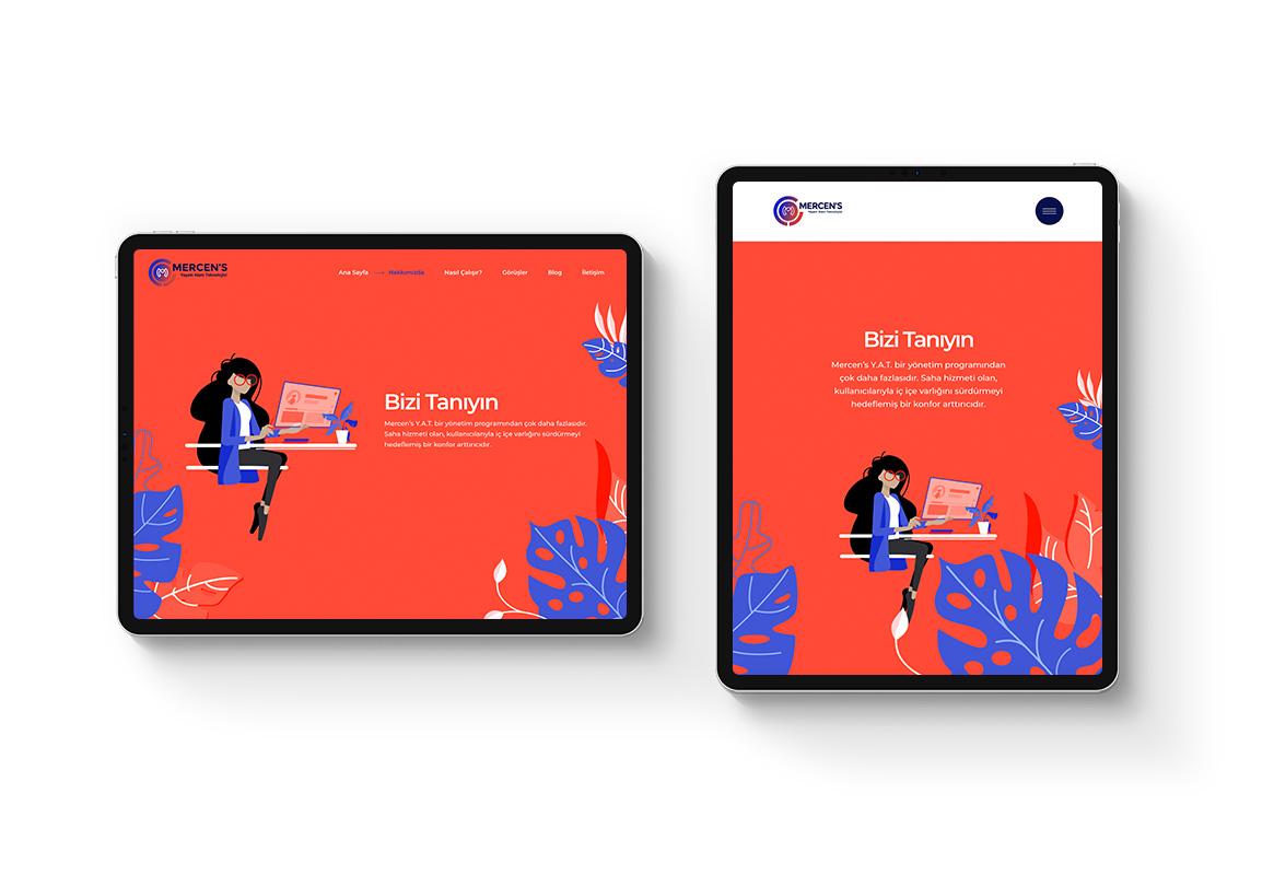 web sitesi tablet görünümü